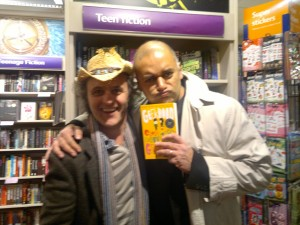 Me and Sarwat Chadda - superb author and utter gent. Although you might not know it from the picture...